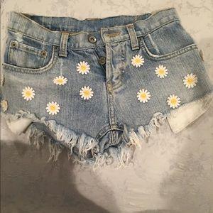 Carmar daisy denim shorts