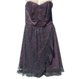 Tocca Dresses & Skirts - ❗️FINAL❗️Tocca Violet Black Strapless Lace Dress