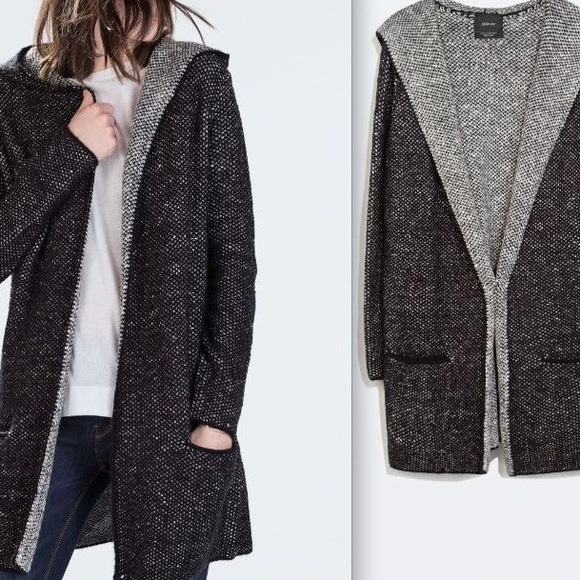 35% off Zara Sweaters - 🚫SOLD🚫Hooded Knit Cardigan from Sofi's ...