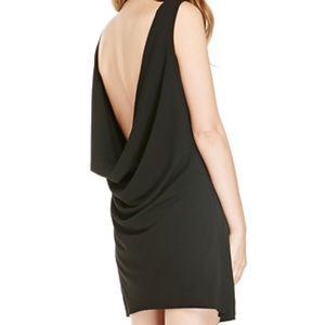 Draped back dress