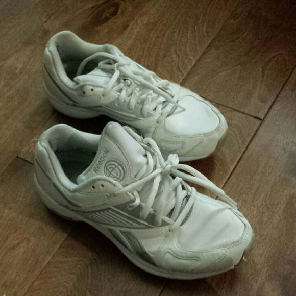 reebok reebok white tennis shoes from diana s closet on
