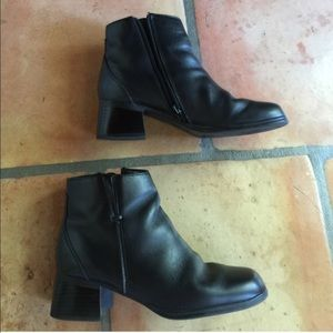 AJ Valenci Shoes - Black Genuine Leather Ankle Boots