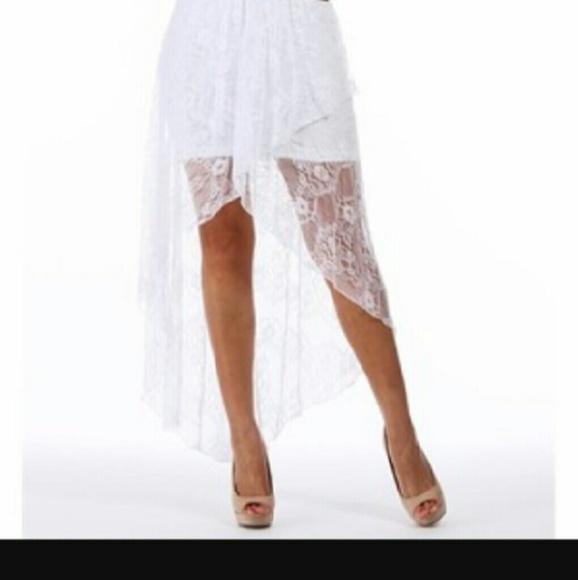 russe russe high low white lace