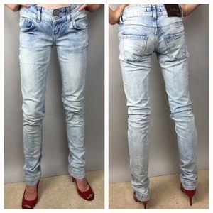 LTB Denim - LTB Stonewashed Low Rise Slim Jeans 25
