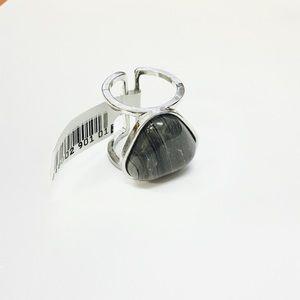Gray Stone Statement Ring