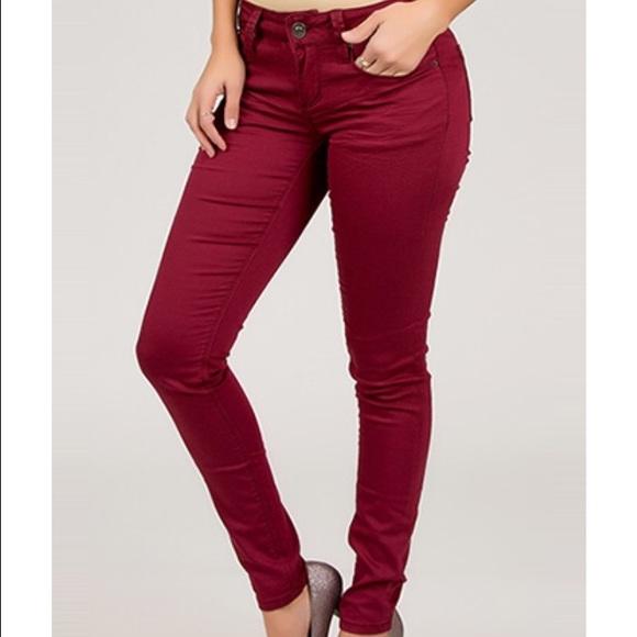 4af8511cce205 Maroon YMI Hyperstretch Skinny Jeans. M_573c7f6c6a583029490cc283