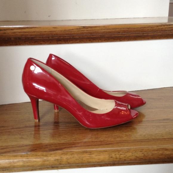 Patent Leather Open Toe Heels | Poshmark
