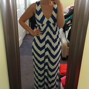 J. Crew Dresses & Skirts - J. Crew Chevron Maxi Dress