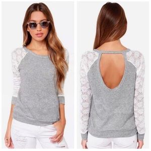 Tops - 🌟Cotton with Lace Sleeve Detail