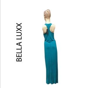 Bella luxx long maxi dress teal Small NEW