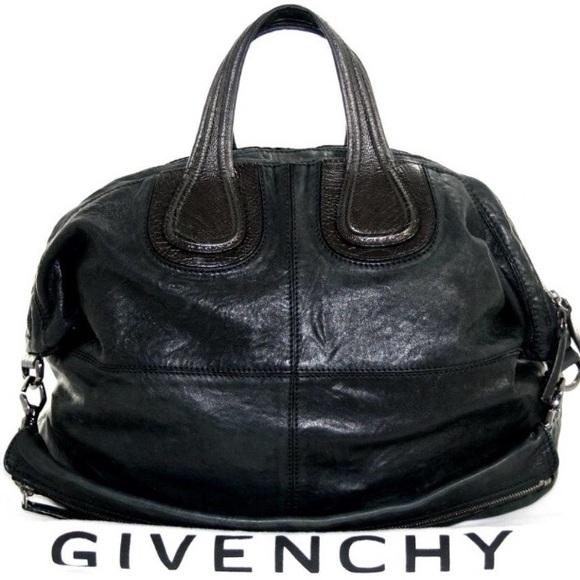 130e9872768a Givenchy Handbags - Givenchy Nightingale large black lambskin AUTH