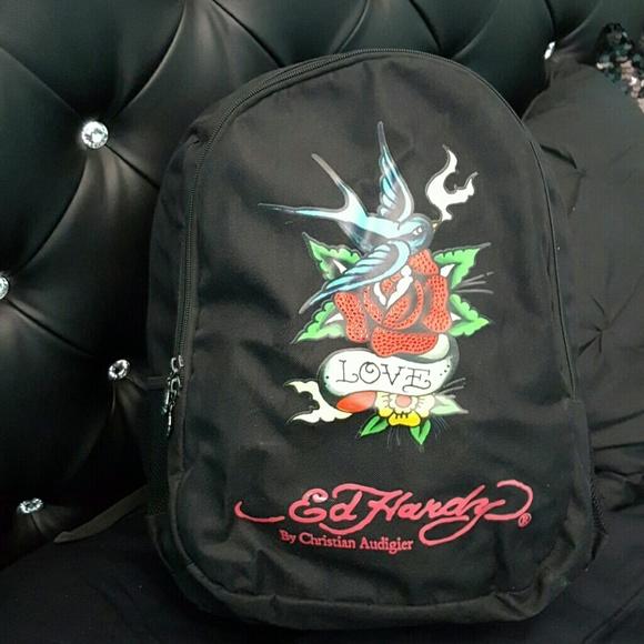 35ad806513c8 Ed Hardy Handbags - Beautiful sparrow Ed Hardy backpack