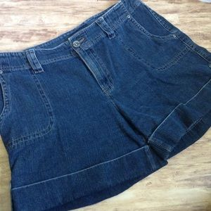 Sonoma Relaxed Fit Cuffed Denim Shorts