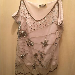 Beaded Coachella Tank Top