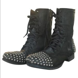 73% off Steve Madden Shoes - Steve Madden studded black combat ...