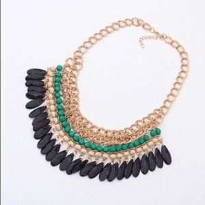 New! Crystal-Chunky-Statement-Bib-Necklace