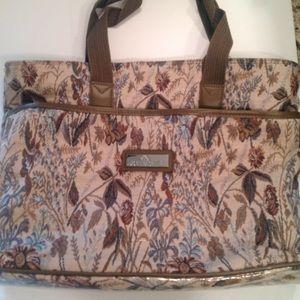 Jordache Handbags - XL Jordache Tapestry Tote Travel / Overnight Bag