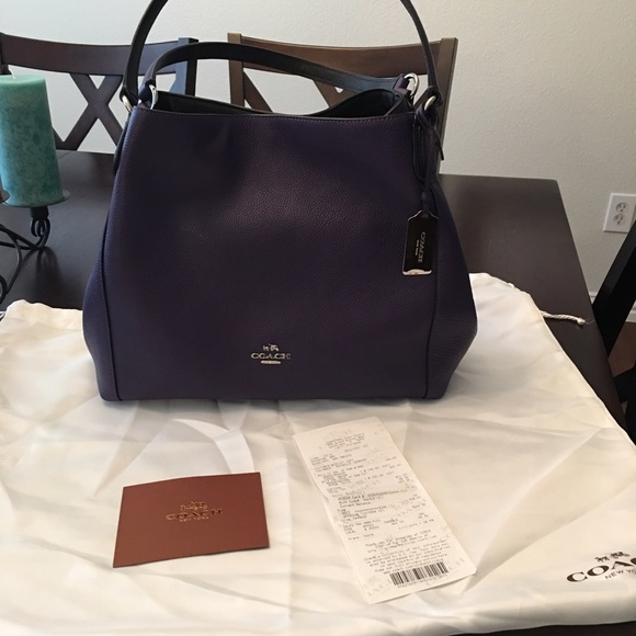 Coach Edie 31 in Violet and Silver. M 573cc2fd4127d01034000c4e 9e9347e7d8958