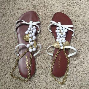 Bebe Seashell Shoes Size 7