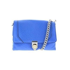 Rebecca Minkoff Jax Blue Pebbled Crossbody Handbag