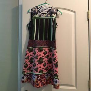 Clover Canyon Dresses & Skirts - Clover Canyon Neoprene Patterned Open Back Dress
