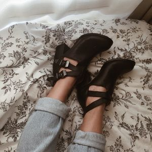 Shoes - DISTRESSED BOOTIES W/ CUTOUTS