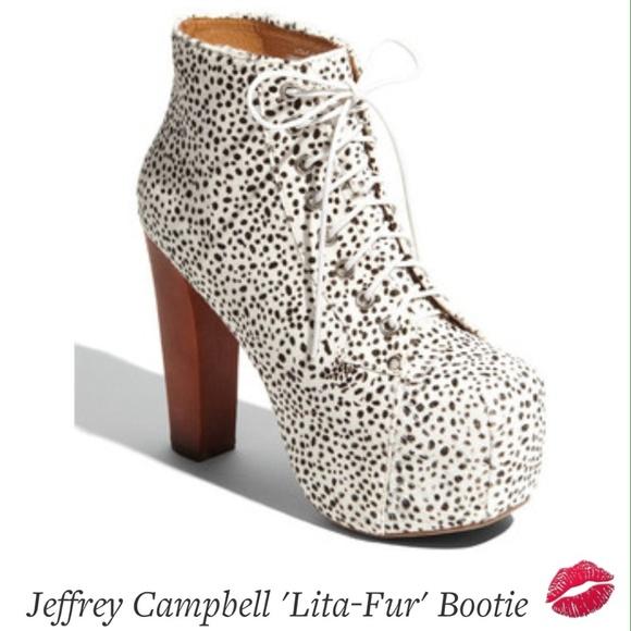 54 off jeffrey campbell shoes jeffrey campbell lita fur bootie brown speckles from. Black Bedroom Furniture Sets. Home Design Ideas