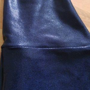 SALE AA Navy Shiny High-Waist Legging