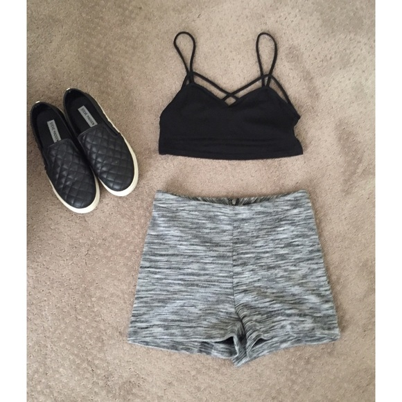 Forever 21 Pants - Heather Grey F21 High Wasted Shorts