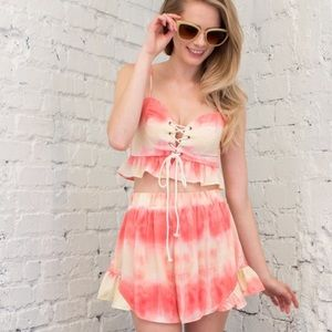 April Spirit Other - Two piece ruffle top & short set. Price firm.