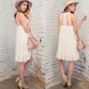 April Spirit Dresses & Skirts - Lace cable detail flowy dress. Price firm.