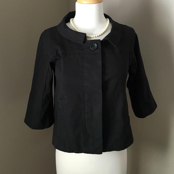 $545 theory Jackie O Style Cropped Jacket