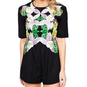 Alice McCall Pants - ALICE McCALL Romper Floral Embroidered Jumpsuit