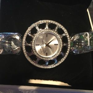 Just cavalli silver embellished watch. Brand new
