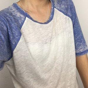 Blue Acid Wash Baseball Tee F21