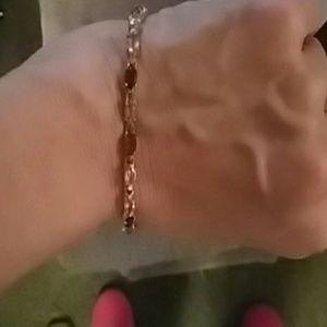 Jewelry - 18 kt gold over sterling stamped bracelet