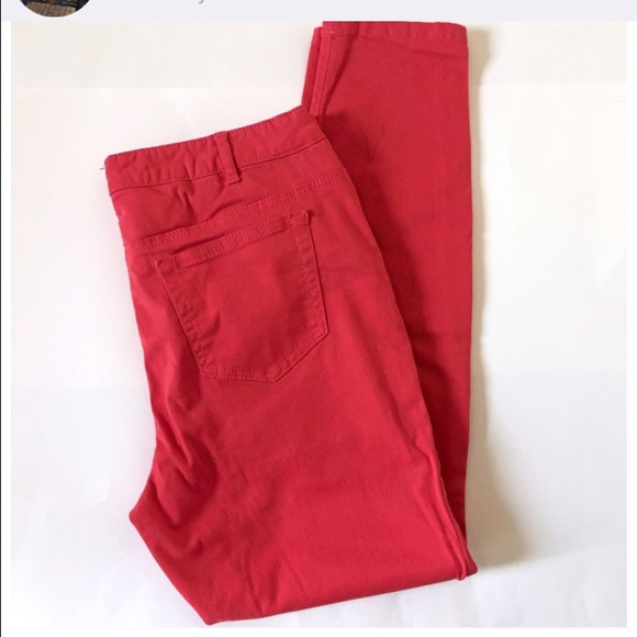 Red skinny jeans size 18