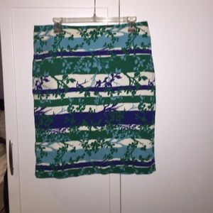Multicolored skirt.