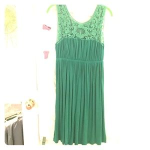 Nola Dresses & Skirts - Green dress with lace top