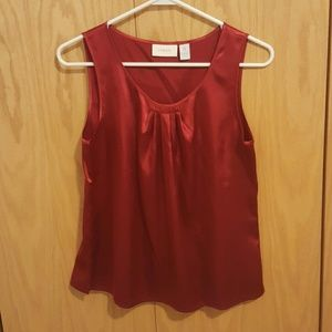 Chico's Tops - Red Silk Sleeveless Blouse Top