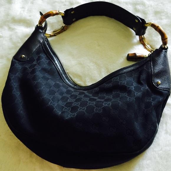 2c58782c6c59 Gucci Bags | Bamboo Ring Hobo Bag Black | Poshmark