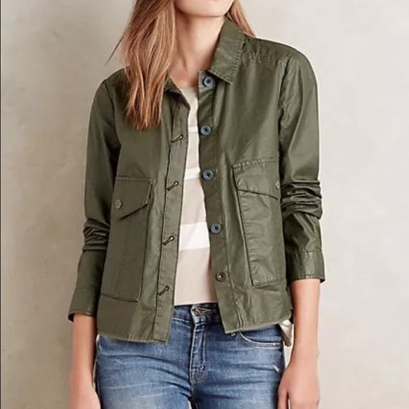d98b9f7873b4c3 Anthropologie Jackets   Blazers - Anthropologie hei hei small army green  jacket