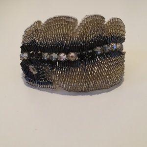 Jenny Packham Jewelry - Jenny Packham Embellished Feather Bracelet