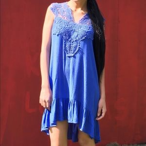 Dresses & Skirts - SALE🎉Blue crochet dress