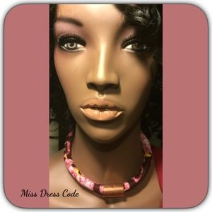 Miss Dress Code Jewelry - African Inspired Fabric Necklace Choker