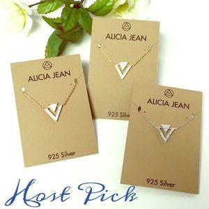🎉HP🎉Gorgeous Chevron Triangle Necklace