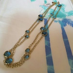 Michael Kors Brilliant Blue Cushion Cut Necklace