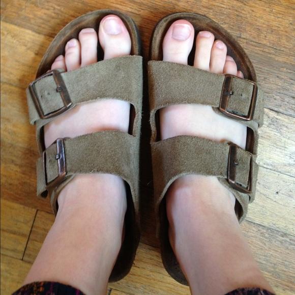 2ad365fead3f Birkenstock Shoes - Birkenstock Arizona Soft Footbed- Suede (38  8)