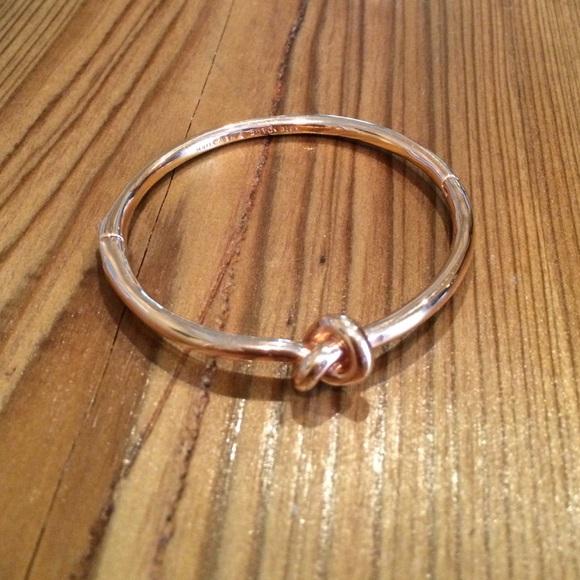 45c7334f62a45 Kate Spade sailor's knot rose gold bangle