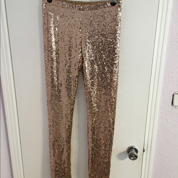 b188cd78d40f2 Gianni Bini Pants - Gianni Bini, Rose gold sequin leggings.